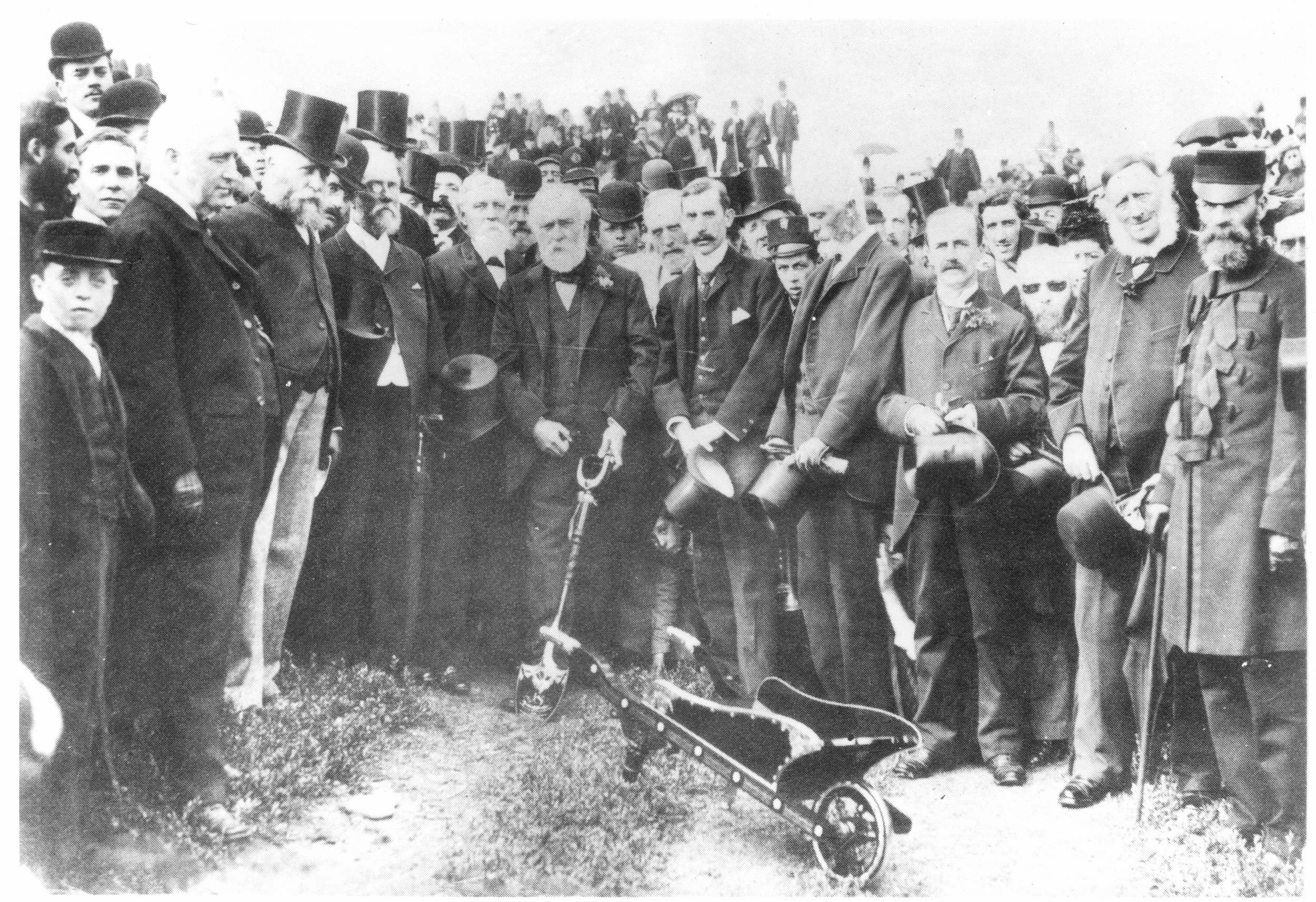W.J.Porritt cuts first sod for drainage scheme - St Anne's 18th August 1892